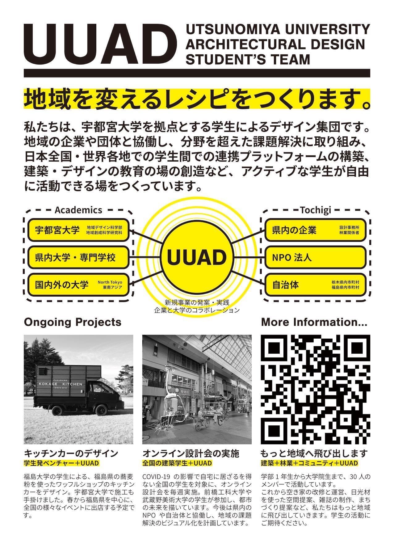 宇都宮大学建築デザイン学生ネットワークUUADのビラ